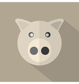 Modern Flat Design Pig Icon vector image