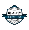 Quality premium product badge vector image