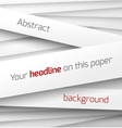 White paper rectangle banner on abstract 3d vector image