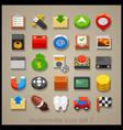 multimedia icon set-7 vector image vector image