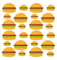 burger food unhealthy seamless pattern vector image