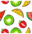 juicy fruits pattern collection stock vector image