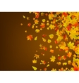 Fallen autumn leaves background EPS 8 vector image