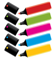 highlighters with caps vector image