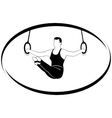 Gymnastics on the rings vector image