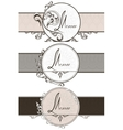 Set vintage ornamental ribbons vector image vector image