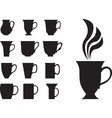 big tea cups vector image