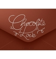 Valentines envelope chocolate vector image