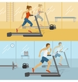 Male And Female Gyms Design vector image