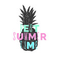 best summer day stylish poster trendy graphics vector image