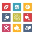 Colorful sport icons set vector image