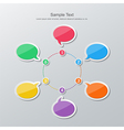 flat design timeline infographics vector image