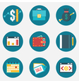 Set of business and management icons vector image