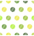 Vintage green background with grunge polka dots vector image