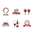 set restaurant symbols vector image