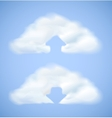 Cloud computing icon with arrow vector image vector image