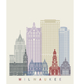 Milwaukee skyline poster vector image