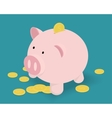 Piggy Bank and golden coins vector image