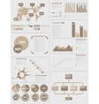 INFOGRAPHIC DEMOGRAPHICS 5 BROWN vector image vector image