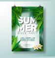 summer beach party flyer vector image vector image