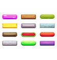 different horizontal cartoon buttons for game vector image vector image
