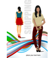al 0315 shopping vector image vector image