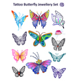 Butterfly Jewellery Set Print Cloth vector image vector image