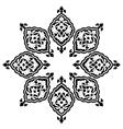 artistic ottoman pattern series thirteen vector image