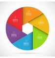 Six steps infographic circle template vector image