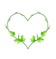 Flower and Leaves Vine in Beautiful Heart Shape vector image vector image