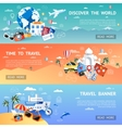 Travel Flat Banner Set vector image