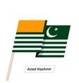 Azad Kashmir Ribbon Waving Flag Isolated on White vector image