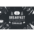 breakfast food hand drawn vector image