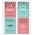 Collection of Universal Modern Stylish Cards vector image