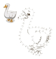 Connect the dots game goose vector image