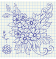 Floral drawing vector image