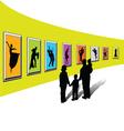 Gallery exhibition-1 vector image