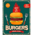 Hot and tasty burgers Burger in vector image