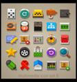 multimedia icon set-8 vector image