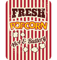 retro style popcorn packaging design vector image