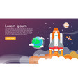 space shuttle and planet in space infographic vector image