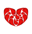 Abstract heart made aaof drops blood vector image