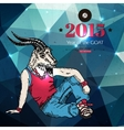 Hipster background Year of the goat Geometric vector image