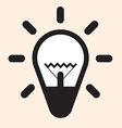Simple Flat Design Bulb Icon vector image