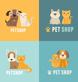 pet shop logo design templates vector image vector image