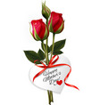 Roses with Happy Mothers Day gift card vector image vector image