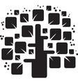 stylized black tree vector image vector image