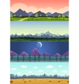 parallax landscape cartoon seamless backgrounds vector image vector image