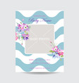 baby arrival floral card blooming spring vector image
