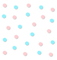 Blue Pink Circle Abstract White Background vector image